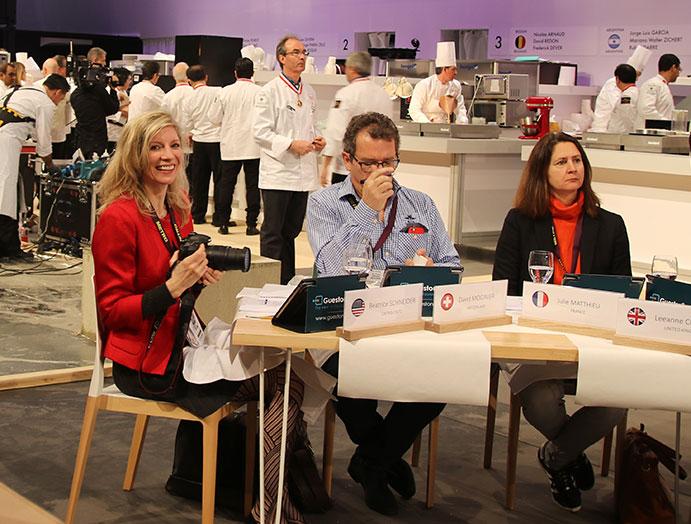 Beatrice S.Schneider -press judges at the Coupe du Monde de la Patisserie
