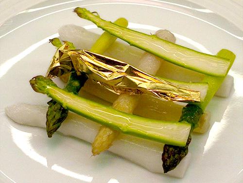 Chef Laurent Gras L2O Asparagus Plate
