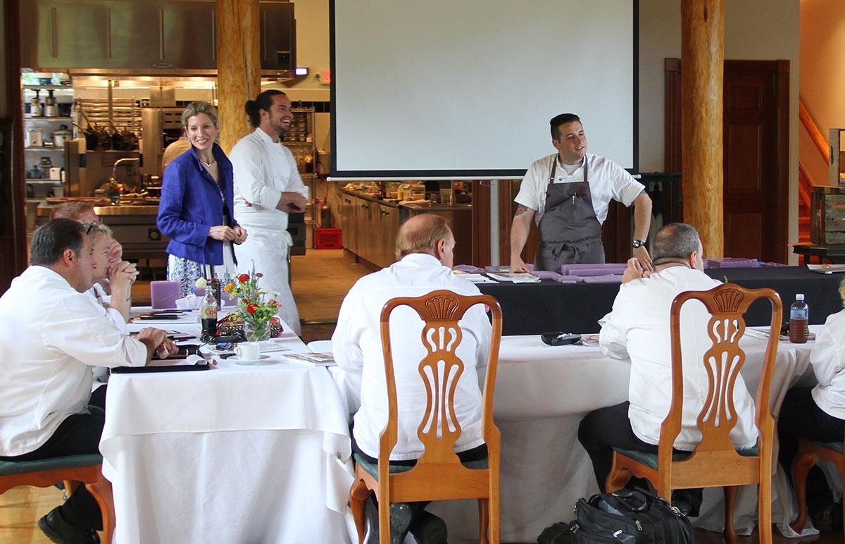 Workshop at CVI with Chefs Jamie Simpson and Corey Siegel